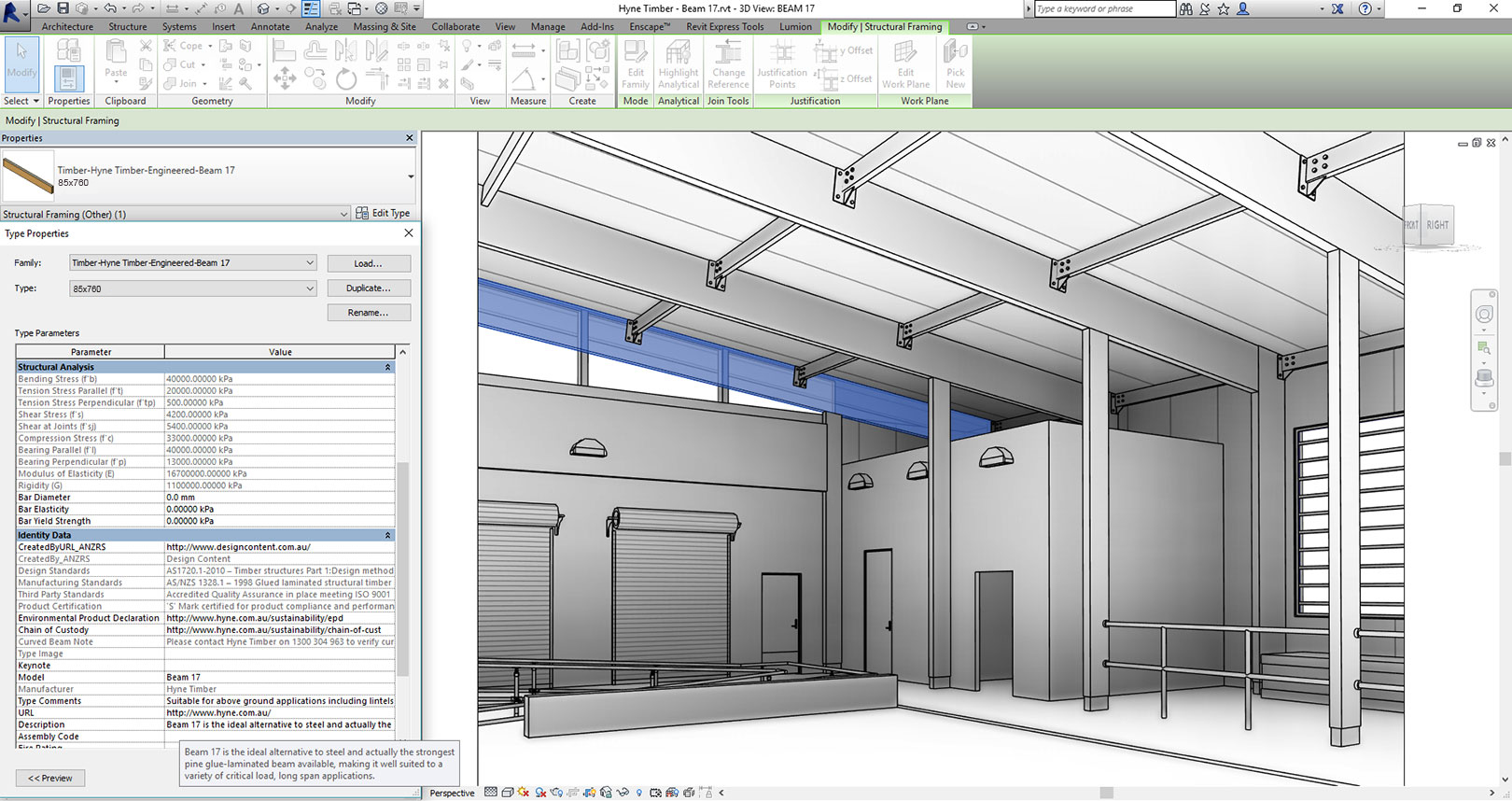 Beam 17 in Revit